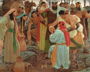 Lehi and his family mormon